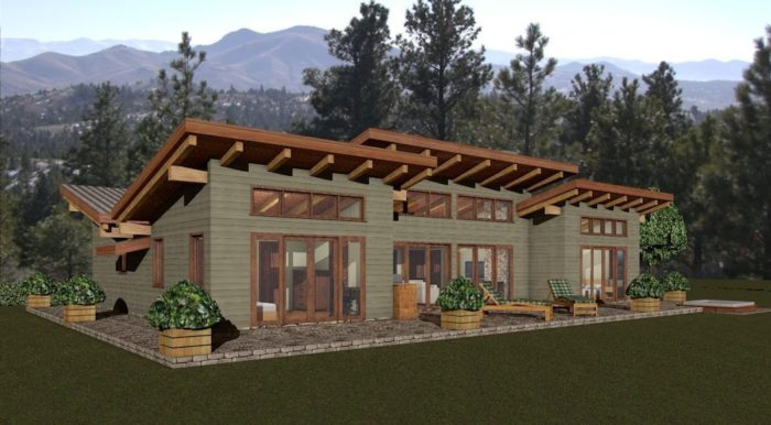 Flat Roof Plan Archives Footprint Log Homes