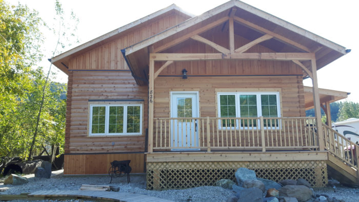 The Completed Log Home, Ready to Move In